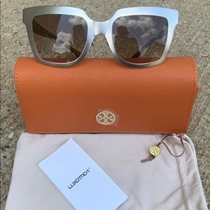 Tory Burch Silver Retro Sunglasses